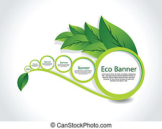 abstract Eco Banner Set vector