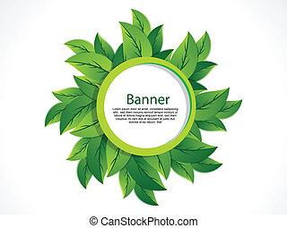 Green Leaf Banner vector