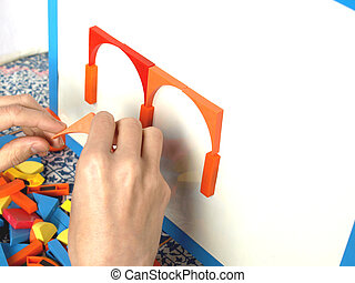 tangram - Tangram game toy with hands and magnetic...