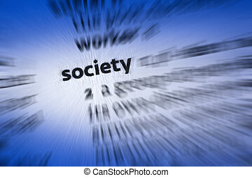 Society - the community of people living in a particular...