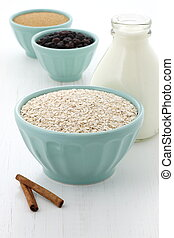 Healthy and delicious oatmeal ingredients