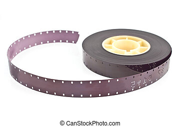 16mm film reel isolated on white
