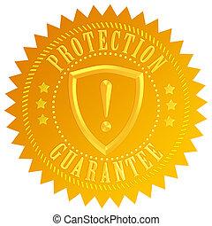 protección, garantía, icono
