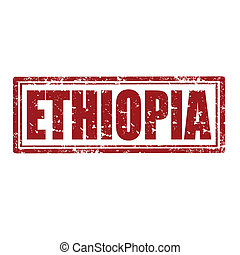Ethiopia-stamp - Grunge rubber stamp with word...