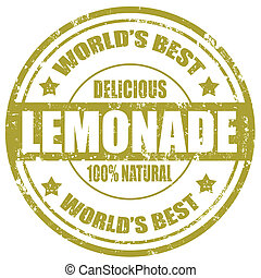 Lemonade-stamp - Grunge rubber stamp with word...