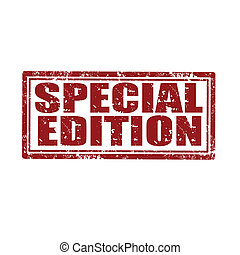 Special Edition-stamp - Grunge rubber stamp with text...