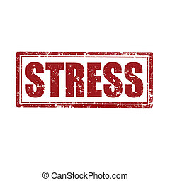 Stress-stamp - Grunge rubber stamp with word Stress,vector...