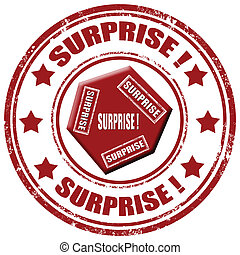 Surprise-stamp - Grunge rubber stamp with word...