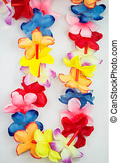 Colored Hawaii lei