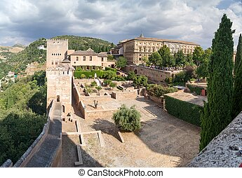Panorama of the Alhambra - Panoramic views of the Alhambra,...