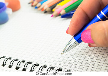 Pen and paper  Essay Writing