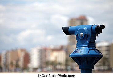 Spyglass - A coin operated Telescope for viewing a city of...