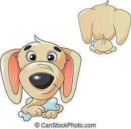 Cartoon illustration of a dog - Cartoon illustration of a...