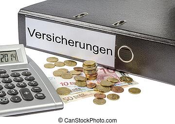 Versicherungen Binder Calculator and Currency - A Binder...