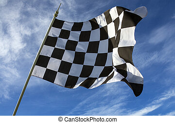 Checkered Flag - Winner. The checkered flag is used to end a...