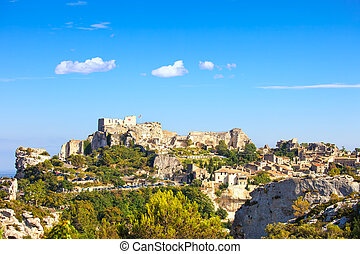 Les Baux de Provence village and castle. France, Europe. -...