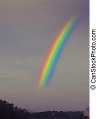 A rainbow during monsoon Pune, Maharashtra, India