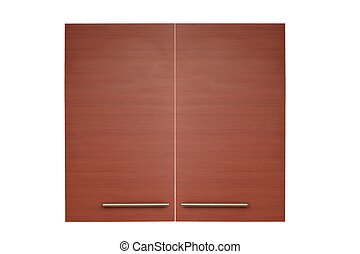 Laminate Door - A laminate door isolated against a white...