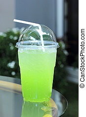 Italian Soda kiwi take home - Italian Soda kiwi in plasic...