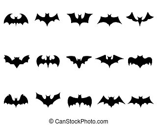 bat icons  - isolated bat icons from white background