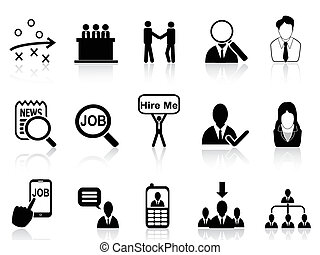 job search icons set - isolated job search icons set from...