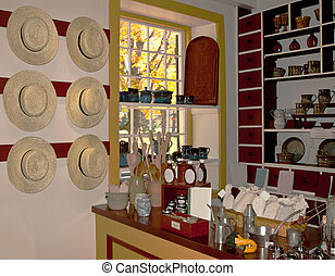 country store interior - interior of an old-fashioned...