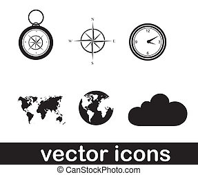 vector icons over white background vector illustration