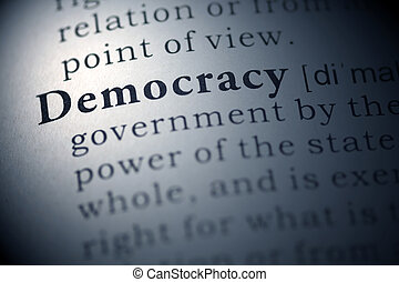 democracy - Dictionary definition of the word democracy