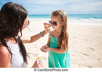 Child protection sun cream
