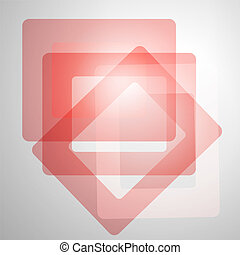 Red abstract squares with patches of light on grey