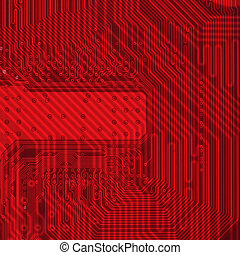 Industrial electronic red background - Hi - tech industrial...