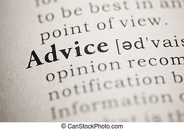 Advice - Fake Dictionary, Dictionary definition of the word...