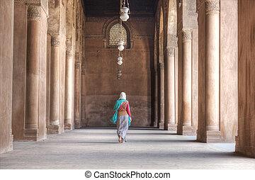 Pilares,  tulun, mezquita,  ibn