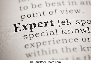 Expert - Fake Dictionary, Dictionary definition of the word...