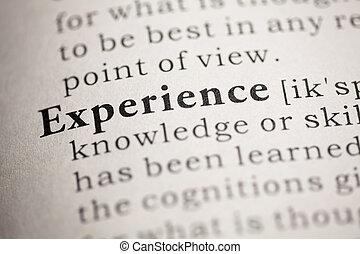 Experience - Fake Dictionary, Dictionary definition of the...