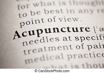 Acupuncture - Fake Dictionary, Dictionary definition of the...