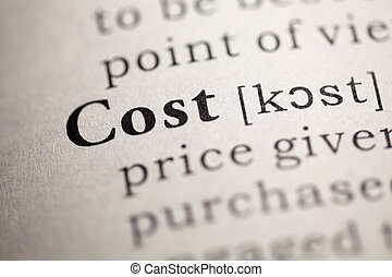 Cost - Fake Dictionary, Dictionary definition of the word...