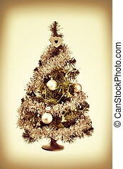 decorated Christmas tree retro