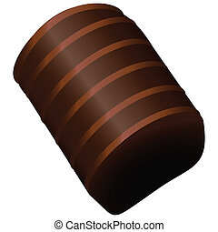Chocolate Candy - Candy cane from the set. Vector...