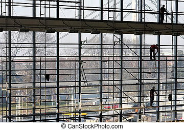 Scaffolding construction - Very tall scaffolding for...
