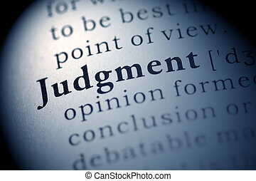Judgment - Fake Dictionary, Dictionary definition of the...