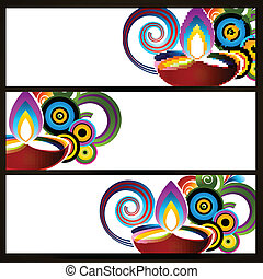 abstract diwali headers