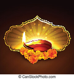 diwali festival design - indian festival of diwali design