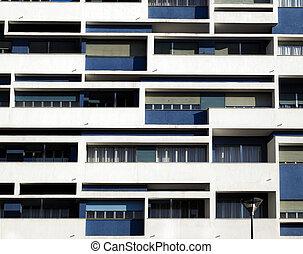 facade - Detail of a modern building facade contemporary...
