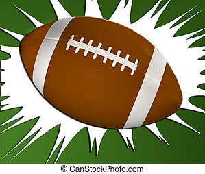Football - Classic American football in the traditional...