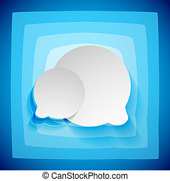 Speech bubble creative abstract background