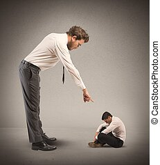 Humiliation - Concept of humiliation suffered by the boss