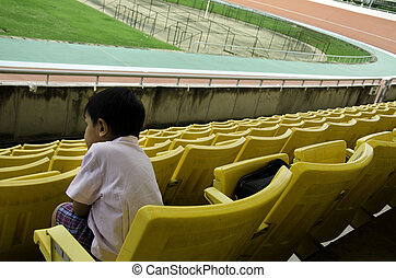 Seat grandstand. - Child seat in the grandstand arena