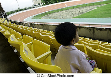 Seat grandstand - Child seat in the grandstand arena