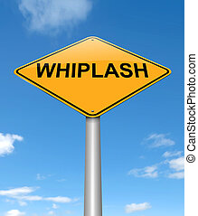 Whiplash concept. - Illustration depicting a sign with a...